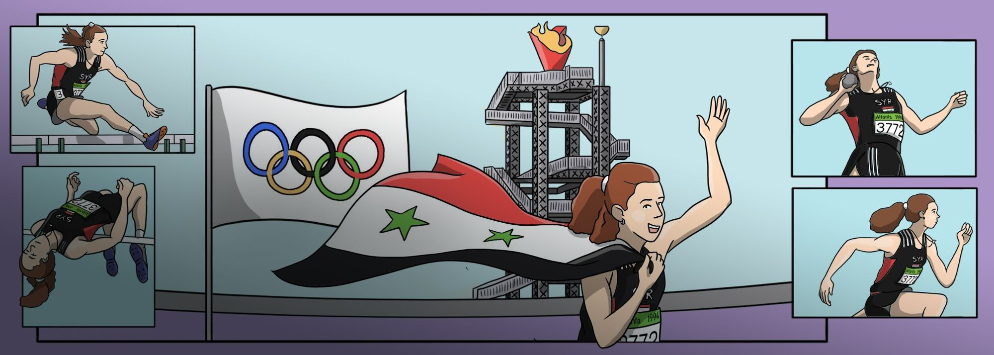 The Atlanta 1996 Games saw Shouaa win Syria's first and only Olympic gold medal.