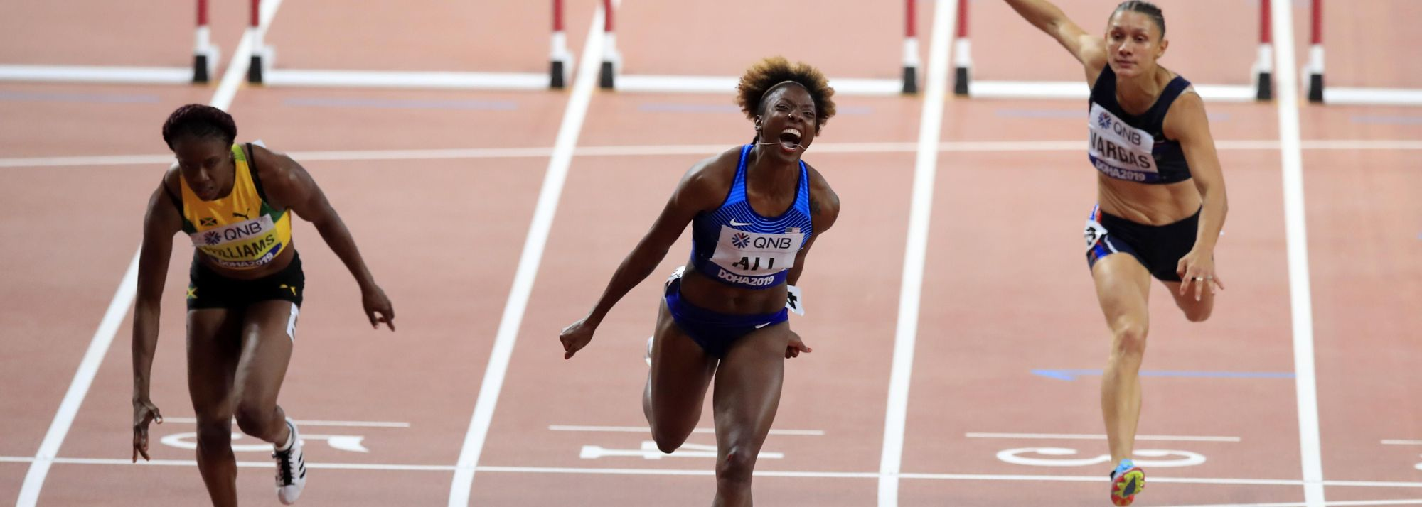 Three victories on the concluding day of the World Athletics Championships Doha 2019 – from 100m hurdler Nia Ali and the men's and women's 4x400m teams - bolstered the United States' position at the top of the medal table, taking their count to 14 golds and 29 medals in total.
