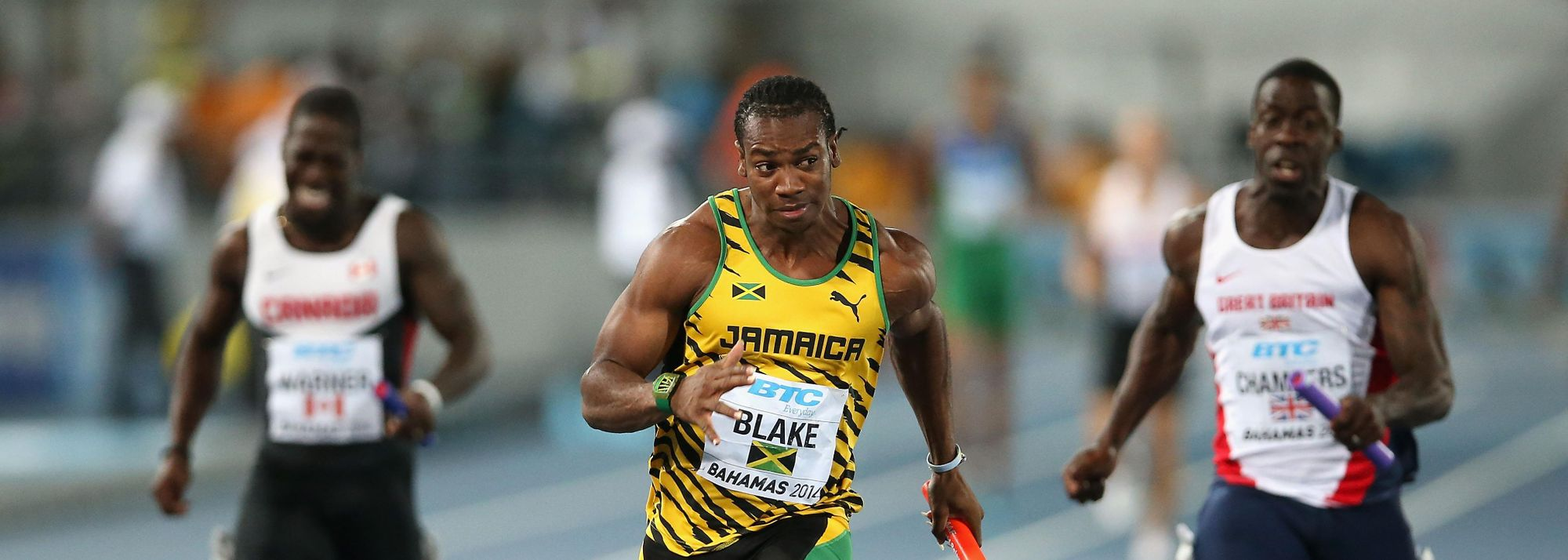 "The men's 4x100m final was Jamaica's to lose, and they managed to avoid that fate with a 37.77 clocking and an authoritative anchor leg from Yohan ""The Beast"" Blake. Blake's closing 100m was clocked in 9.07 with a running start."