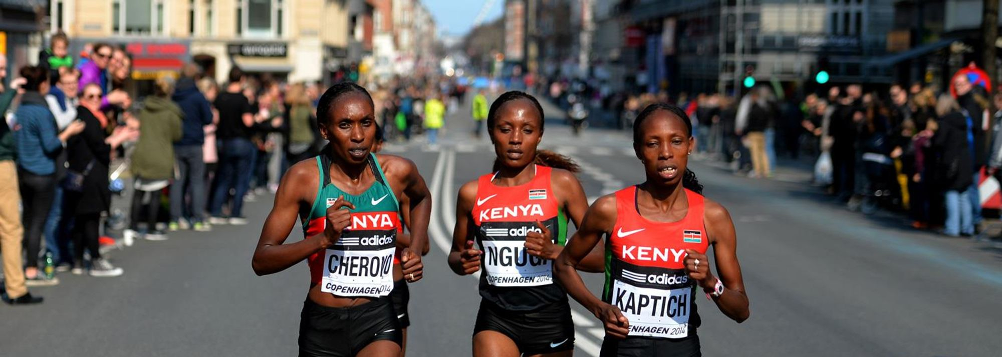 The image of all five of the Kenyan team running in a line at the front of the IAAF World Half Marathon Championships women's race, eyes front, arms pumping in unison, will remain in the memory of all who witnessed it on what was, in all senses, a glorious day for running in Copenhagen on Saturday (29).