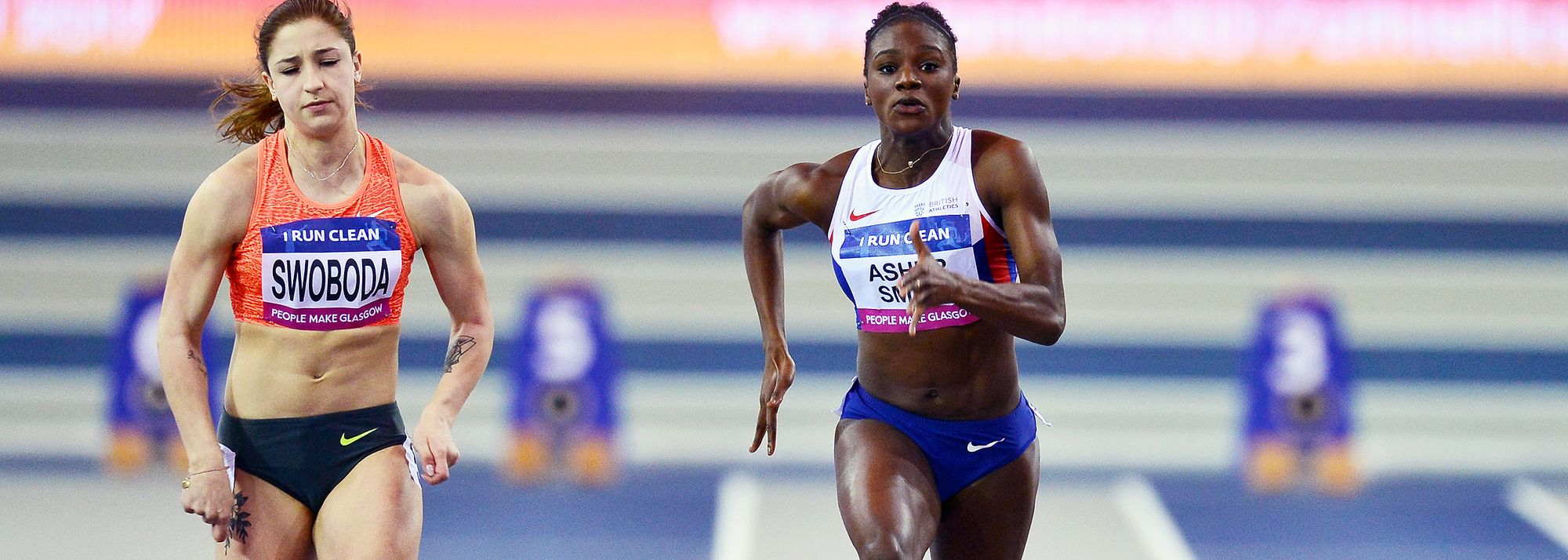 World 200m champion contests her first indoor race for three years
