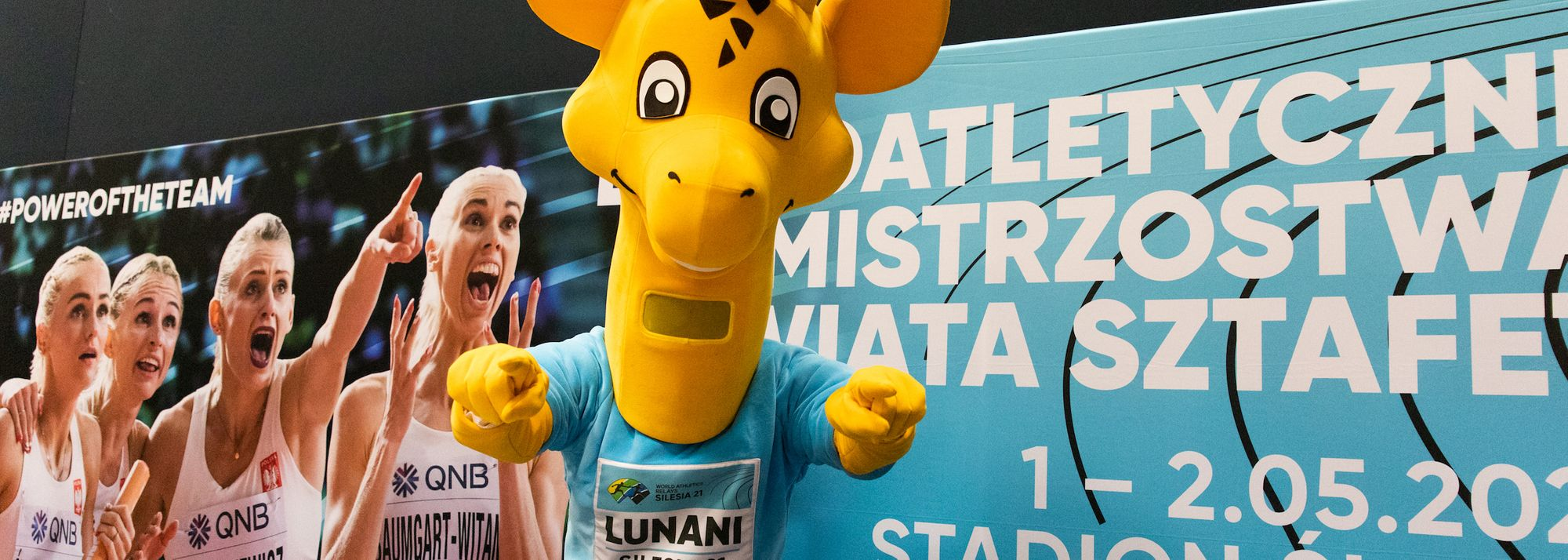 Organisers of the World Athletics Relays Silesia21 marked 100 days to go with an appearance by Lunani, one of the tallest mascots in sport.