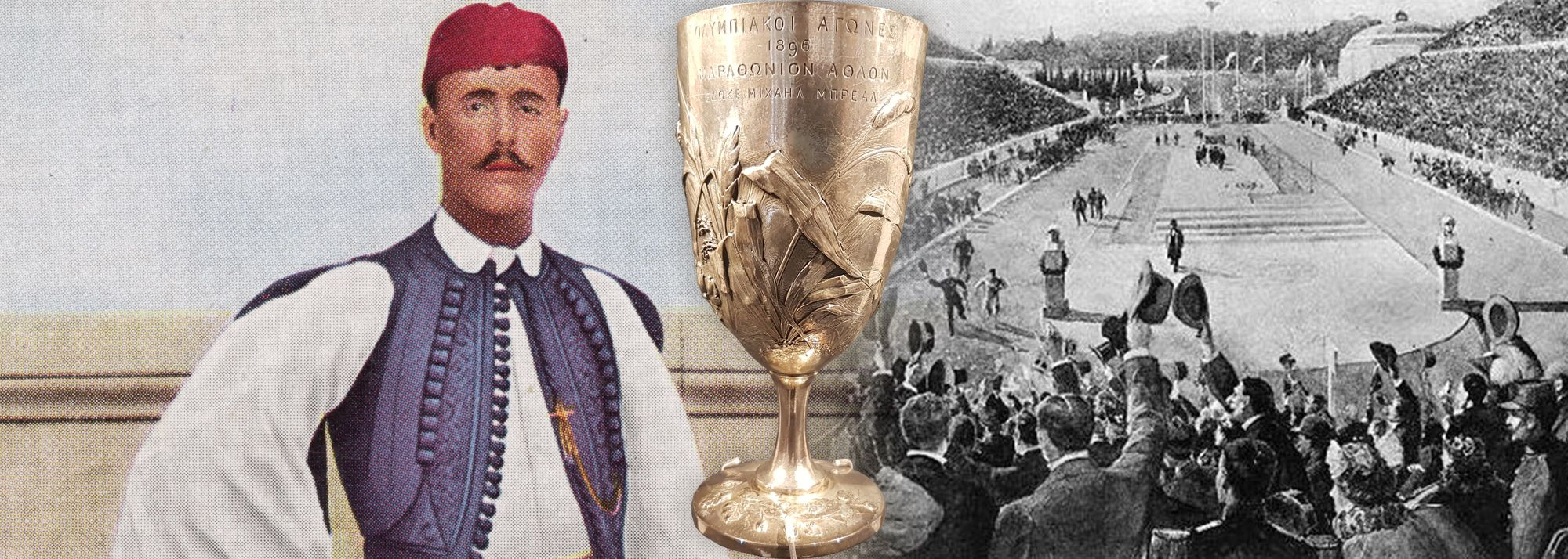 Looking back at when Spiridon Louis won the 1896 Olympic marathon, securing the Breal Cup in the process