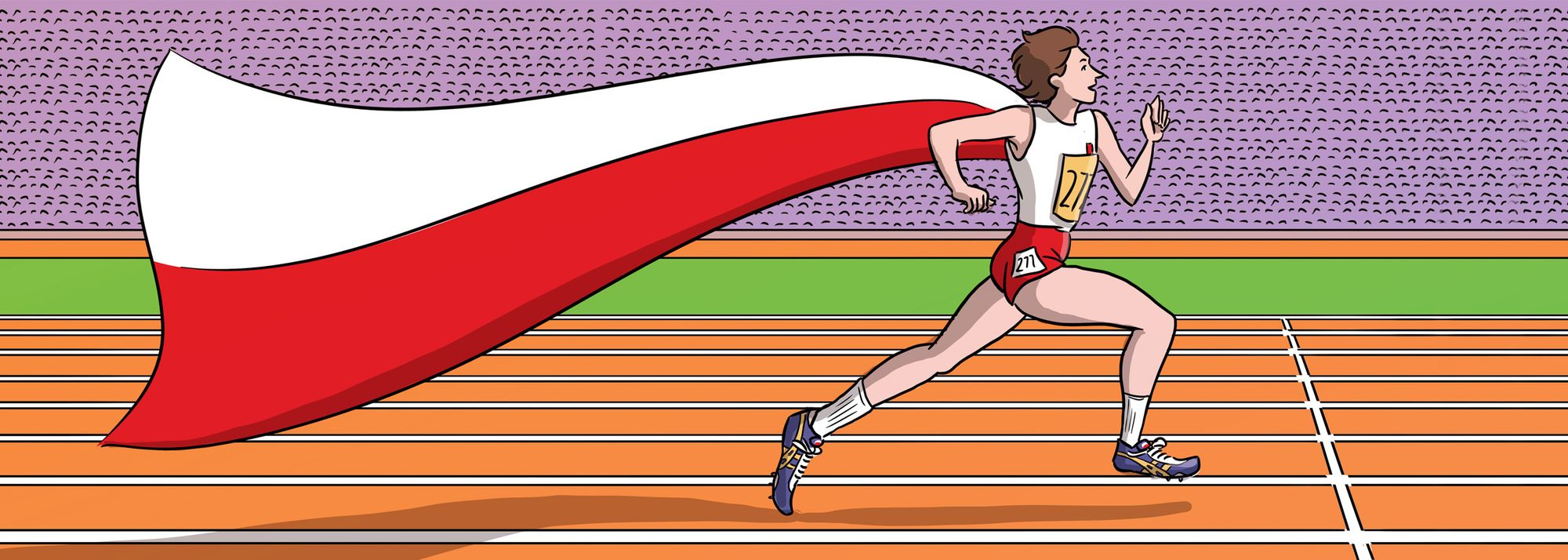 Only one athlete in history has set world records at 100m, 200m and 400m: Irena Szewinska – the brightest star of Polish athletics.