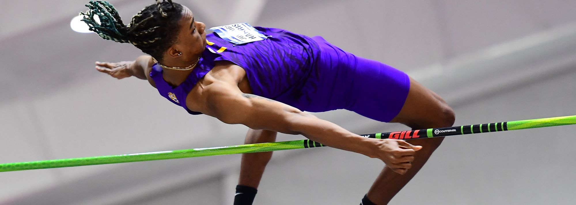 22-year-old aims to improve on his 2.30m and 8.45m PBs