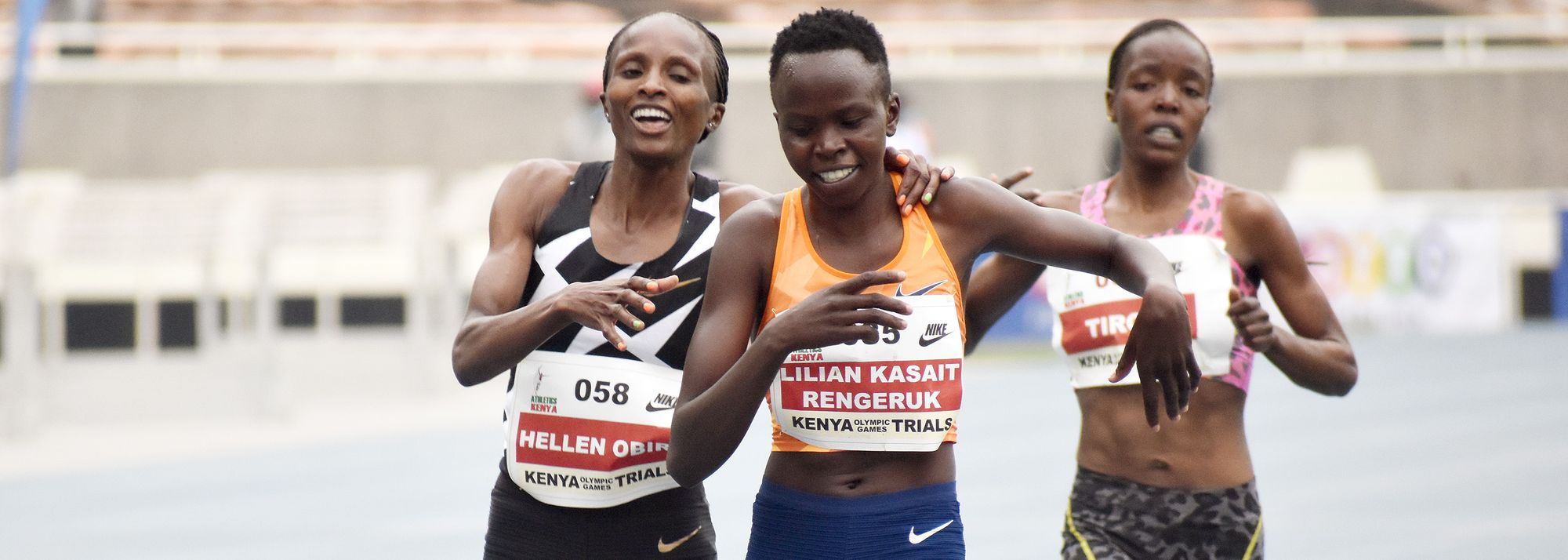 Lilian Kasait Rengeruk and Hellen Obiri secured their Tokyo Olympic Games places by finishing in the top two of a women's 5000m final which saw four women dip under 15 minutes at the Kenyan Championships in Nairobi on Thursday.