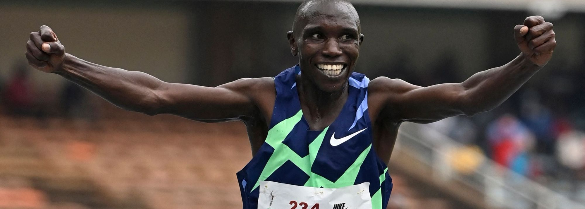 Geoffrey Kamworor ran the quickest 10,000m time ever recorded in Kenya on Friday (18), clocking an all-comers' record of 27:01.06 at the Kenyan Championships in Nairobi to secure his Olympic team place for Tokyo.