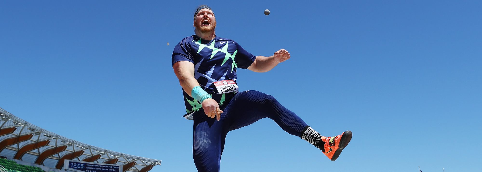 Olympic champion Ryan Crouser broke the long-standing world record in the shot put at the US Olympic Trials, throwing 23.37m* in Eugene on Friday (18).