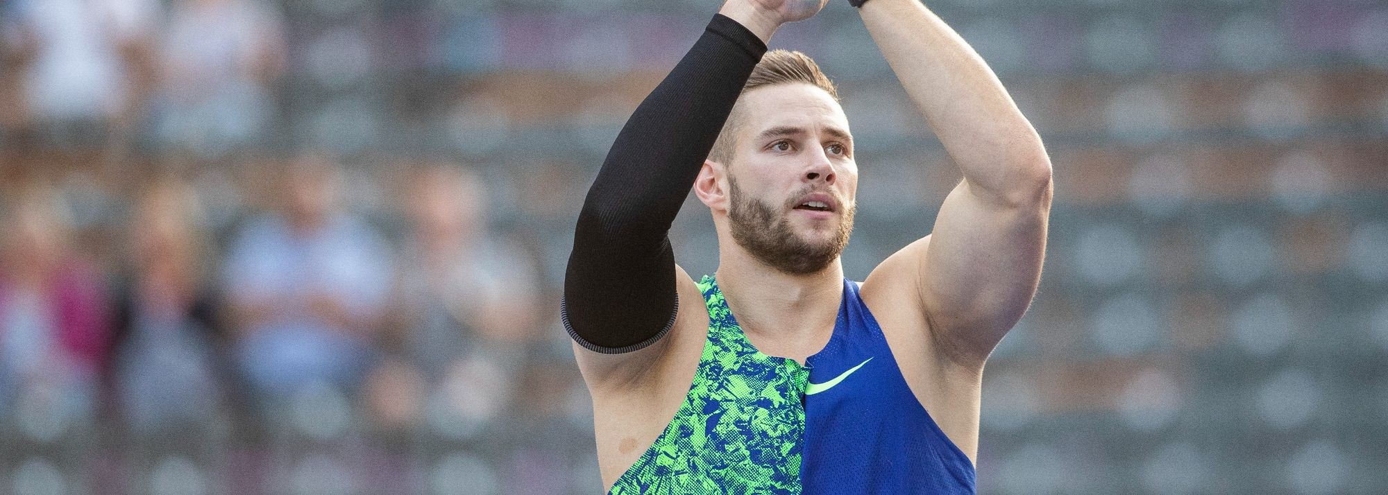 German star Johannes Vetter grabbed the headlines by throwing 92.14m in the men's javelin on a cool and rainy evening at the Spitzen Leichtathletik meeting.