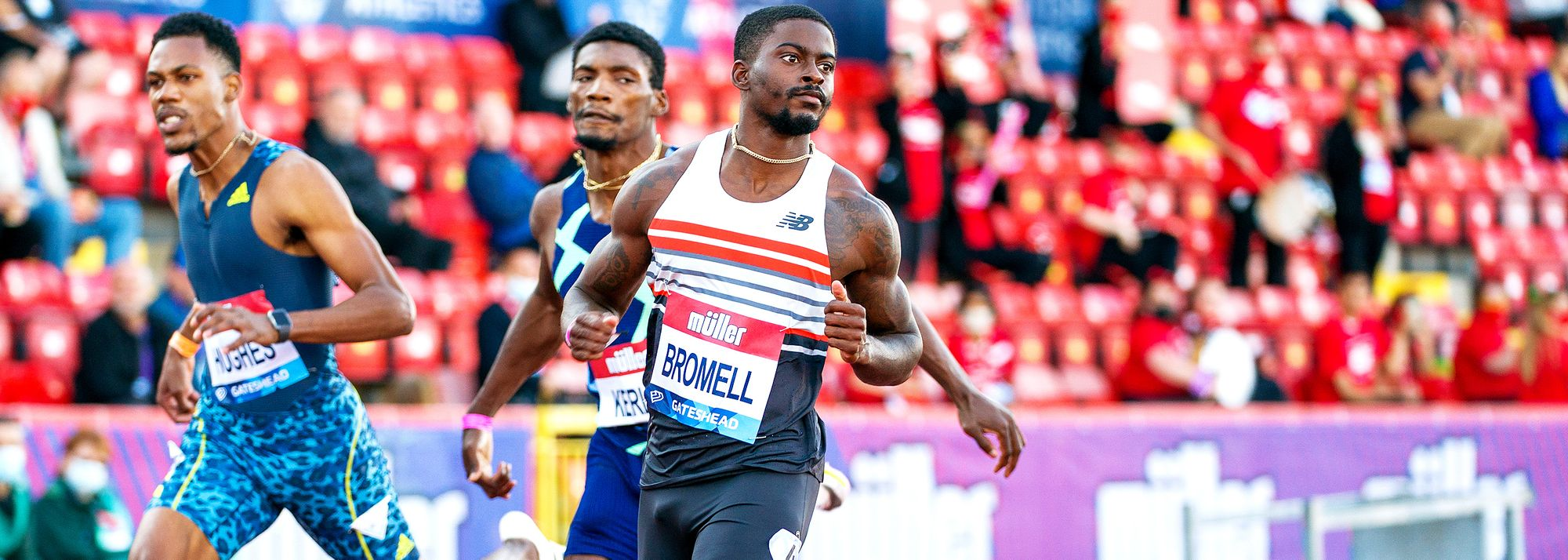 Bouncing back from his first 100m defeat since 2019, Trayvon Bromell won the 100m at the Wanda Diamond League meeting in Gateshead on Tuesday evening (13) to re-establish himself as the favourite for gold at the upcoming Tokyo Olympics.