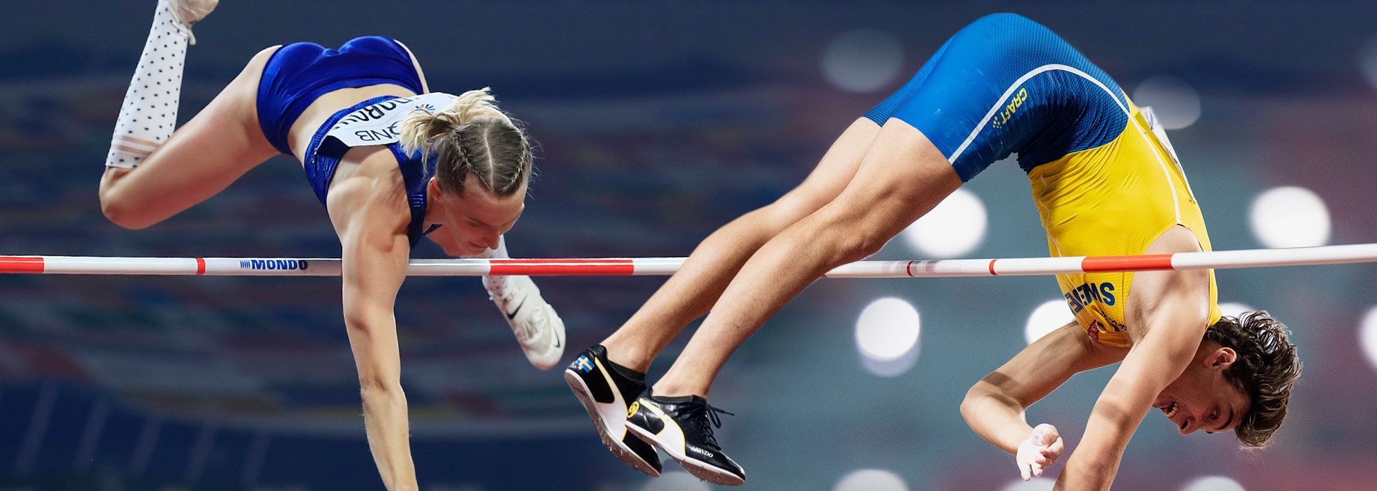 Expected highlights in the women's and men's pole vault.