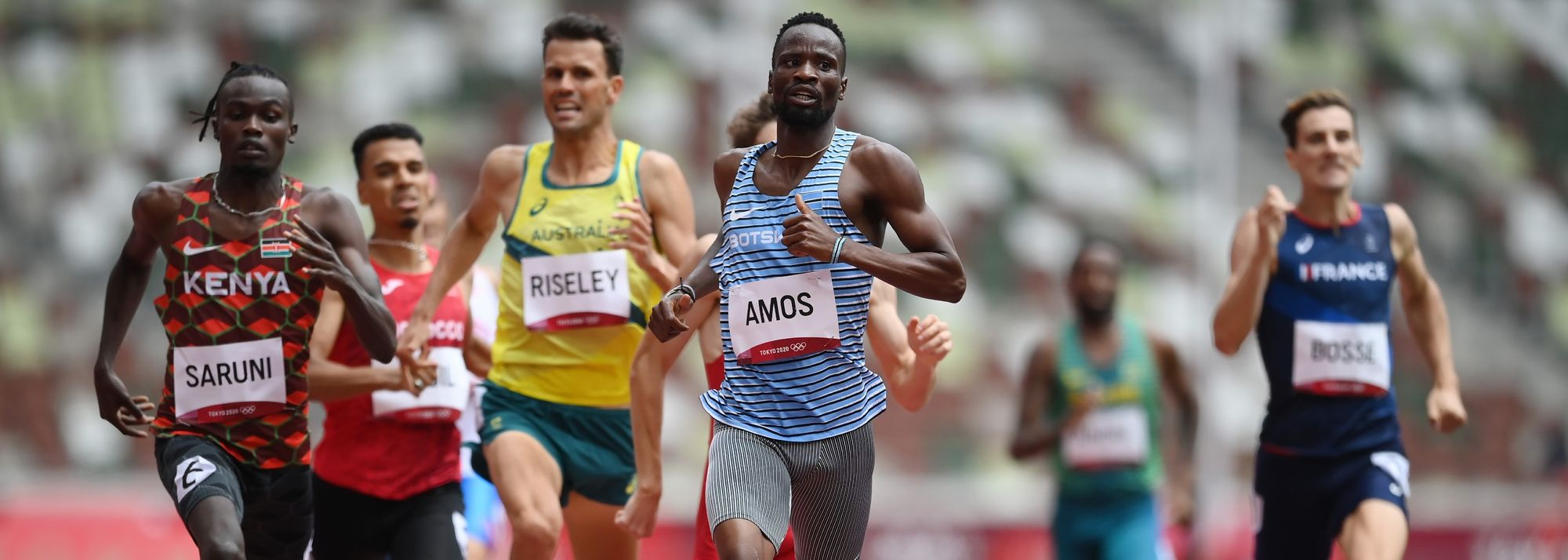 Athletes like setting the bar high. Nijel Amos raised his impossibly high nine years ago when he finished second behind David Rudisha's epic world record-breaking run.