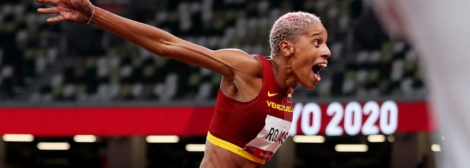 Yulimar Rojas saved her best for last in the triple jump at the Tokyo Olympic Games, sailing out to a world record of 15.67m* to land Venezuela's first Olympic title in athletics.