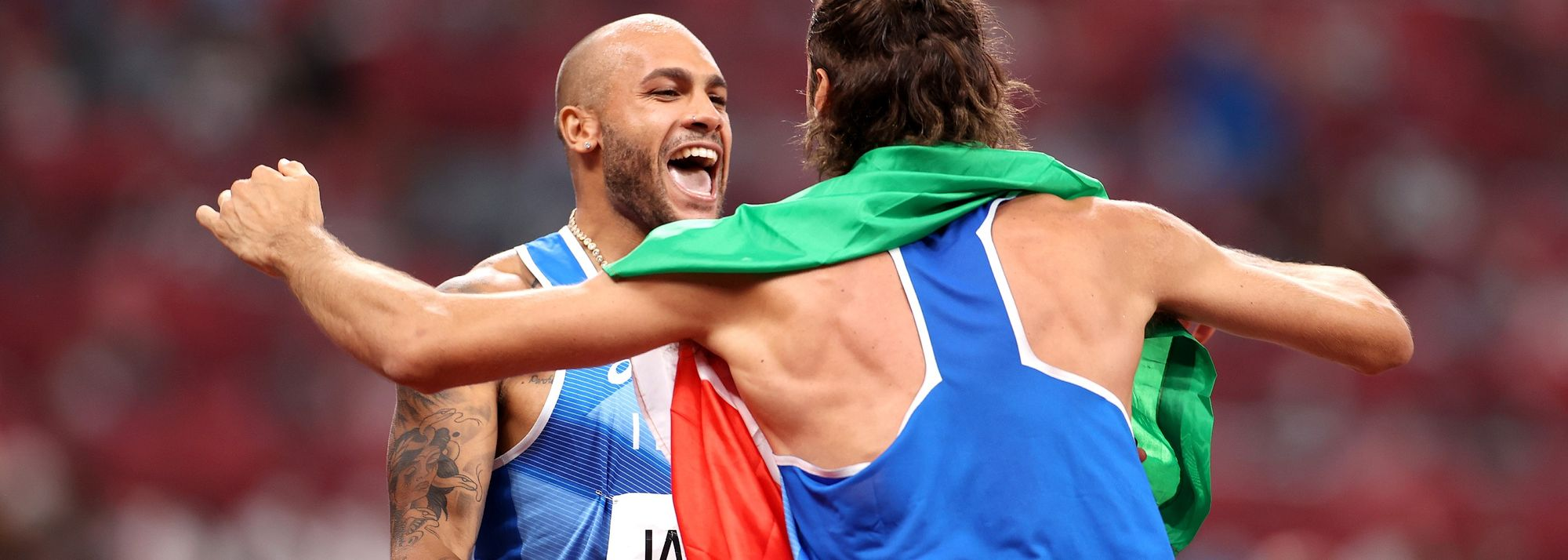 Sunday evening saw a 100m win by Lamont Marcell Jacobs, joint triumph for Mutaz Barshim and Gianmarco Tamberi, and a world triple jump record for Yulimar Rojas.