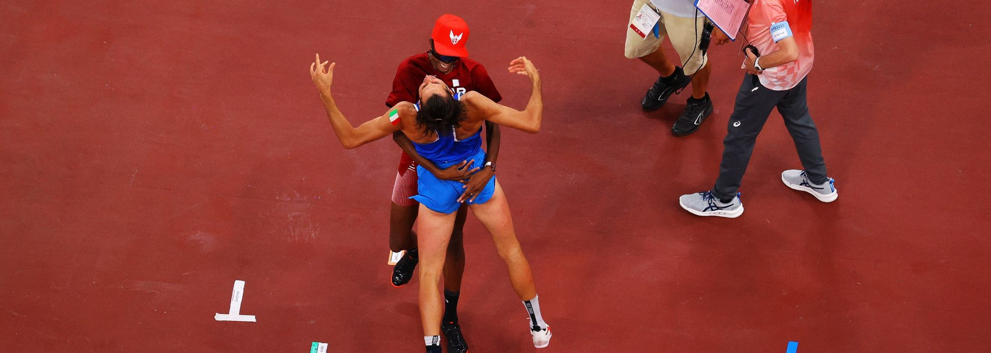 Athletics is rarely more poetic than it was in Tokyo on Sunday night, when Mutaz Barshim and Gianmarco Tamberi agreed to share the Olympic high jump gold medal.