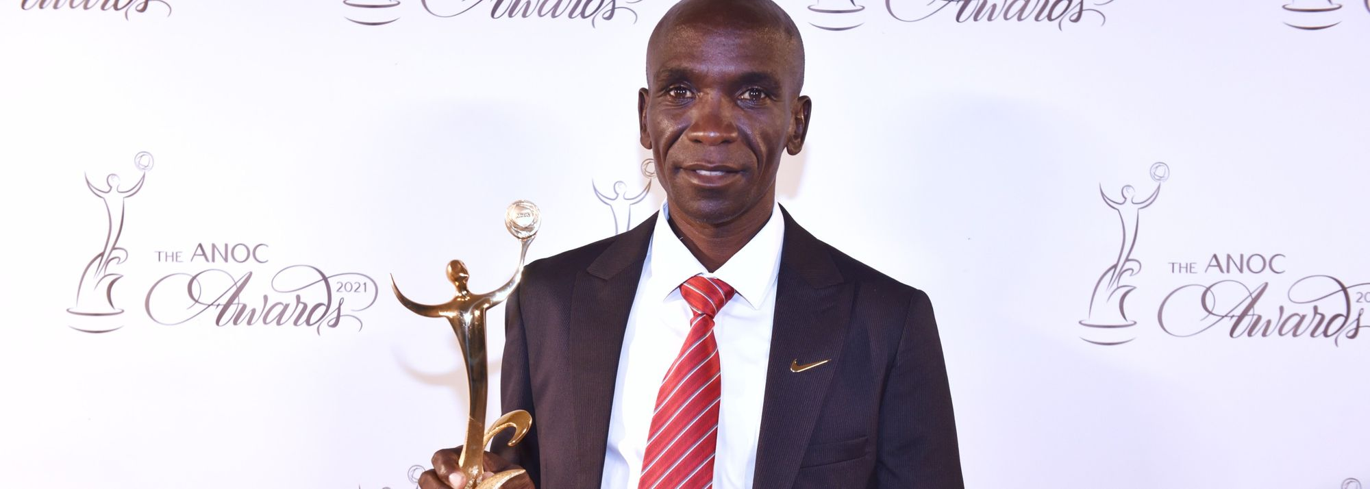 Eliud Kipchoge has been named the best male athlete of the Tokyo 2020 Olympic Games at the Association of National Olympic Committees Awards.