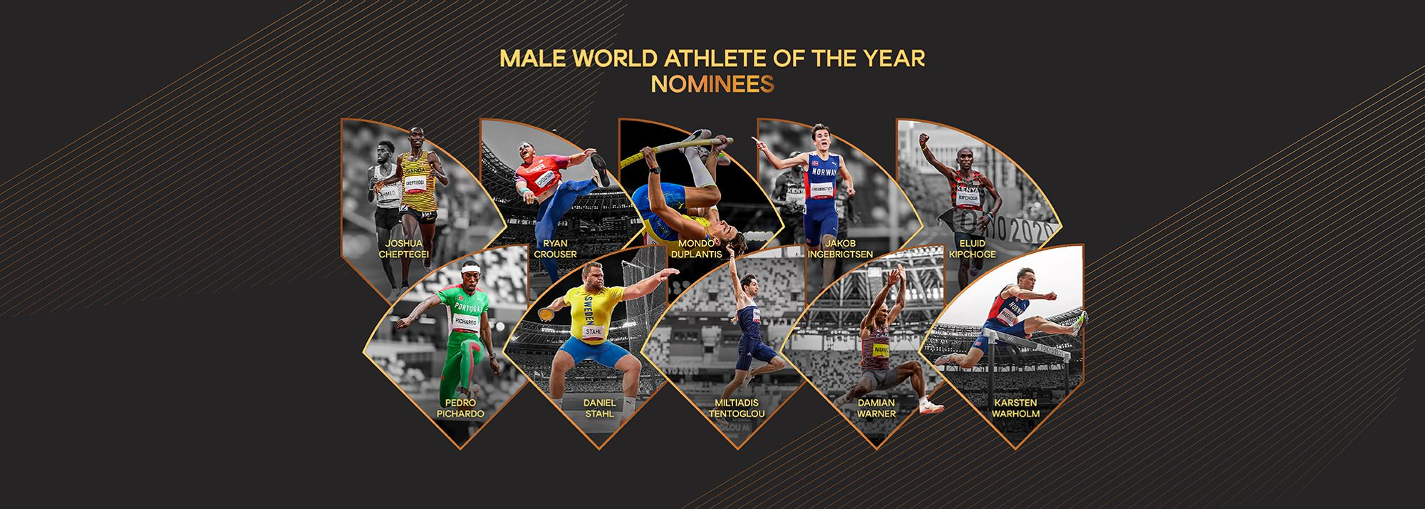 World Athletics is pleased to confirm a list of 10 nominees for Male World Athlete of the Year.