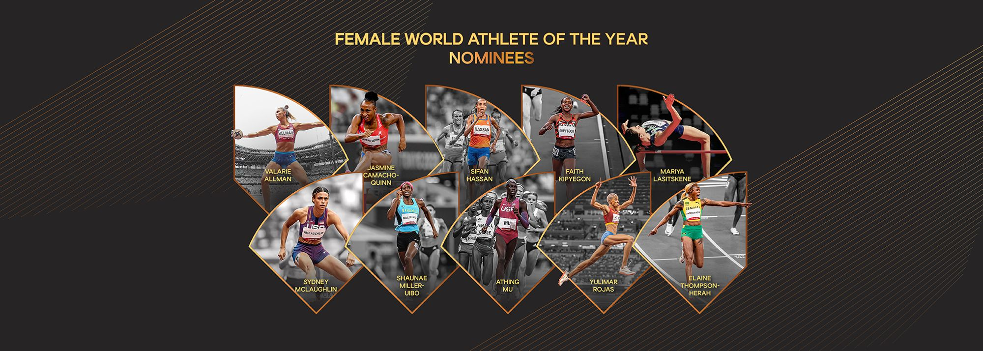 World Athletics is pleased to confirm a list of 10 nominees for Female World Athlete of the Year.