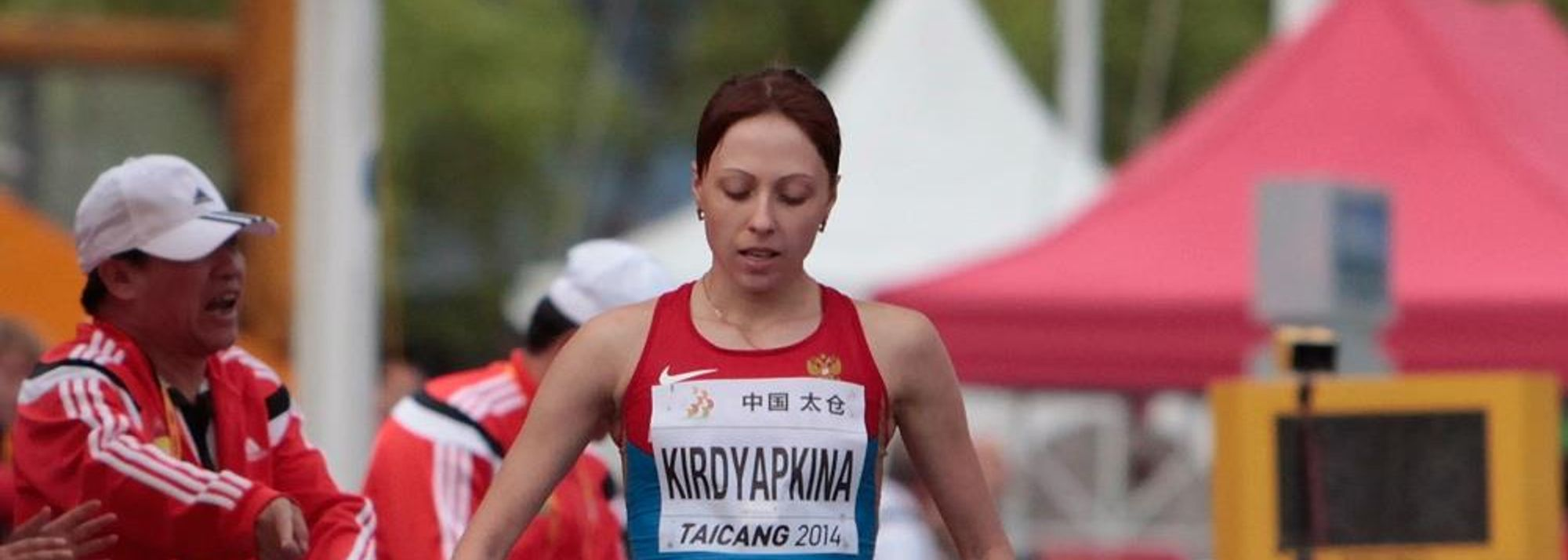 After a bronze and silver medal at the past two IAAF World Championships, Anisya Kirdyapkina finally climbed to the top of the podium thanks to a triumph at the 2014 IAAF World Race Walking Cup, producing a stirring effort over the last third of the race to emerge a convincing winner on Saturday (3).