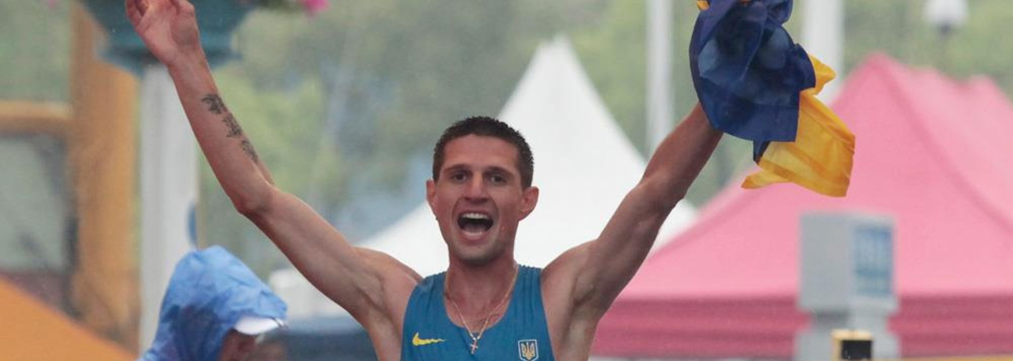 Turn the clock back nearly eight months and Ruslan Dmytrenko was sat in his hotel room. disappointed and slightly despondent after the men's 20km race walk at the 2013 IAAF World Championships.