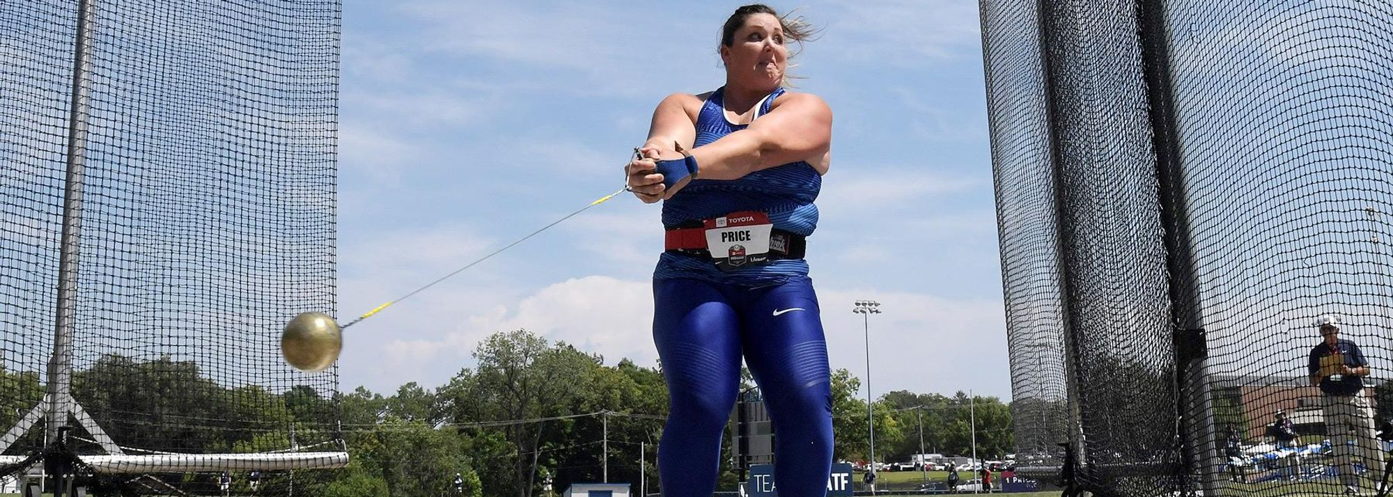 In just her second competition of the year, world champion DeAnna Price of the USA added 36 centimetres to her own North American hammer record on Friday (9) at the Tom Botts Invitational in Columbia, Missouri, winning with 78.60m.