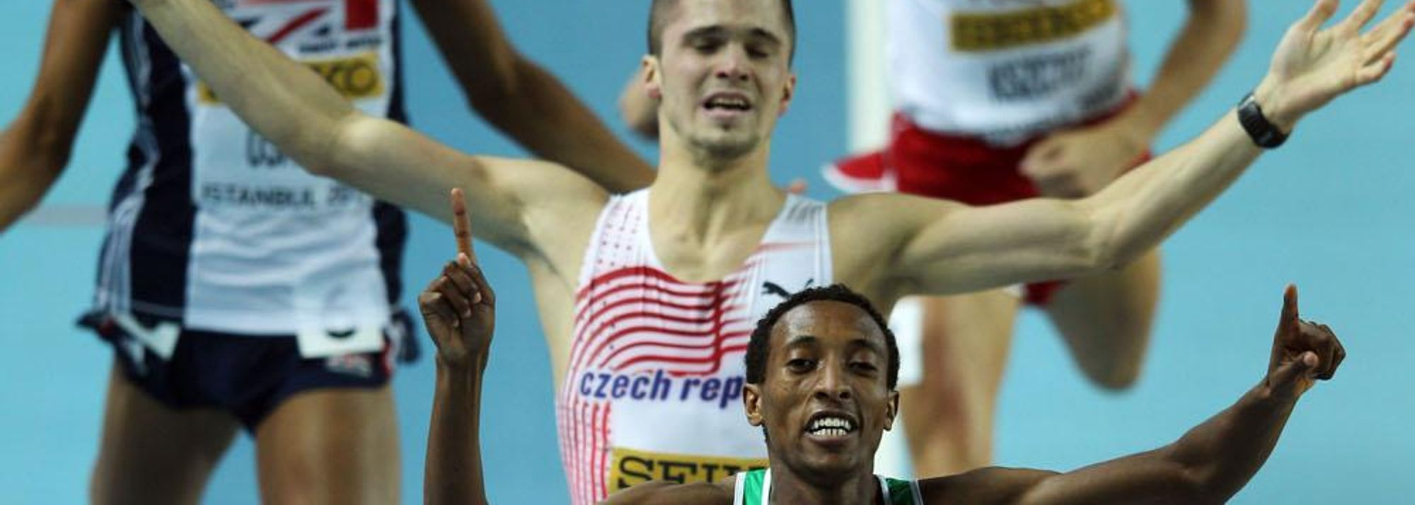 It's fair to say the men's 800 metres at the 14th IAAF World Indoor Championships has not followed the form book, but normalcy was restored at the last when the favourite, Mohammed Aman of Ethiopia, took the gold medal in one minute 48.36 seconds.