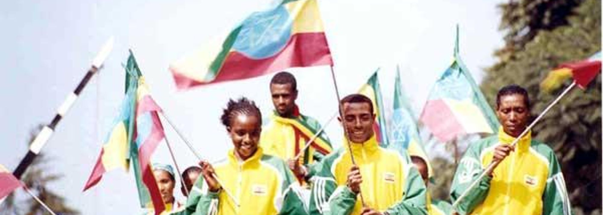 Ethiopian Team returns to a rapturous welcome