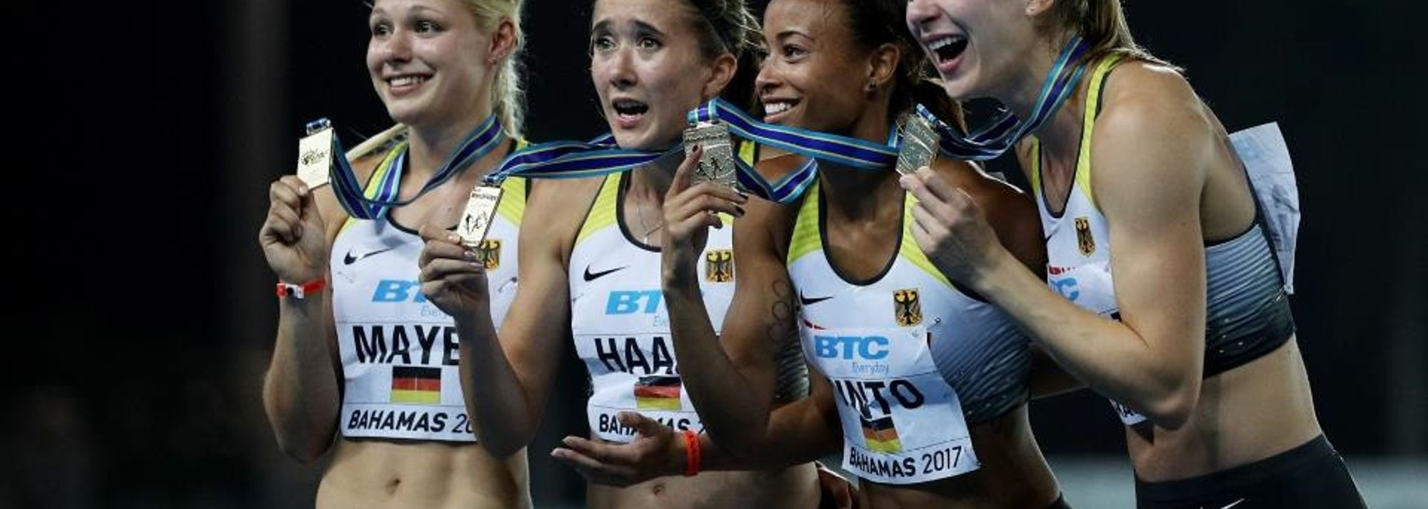 After producing a confidence-boosting victory in their opening round heat of the 4x100m, the same inspired German quartet rode that improbable momentum all the way into the final where they produced their first IAAF/BTC World Relays title.