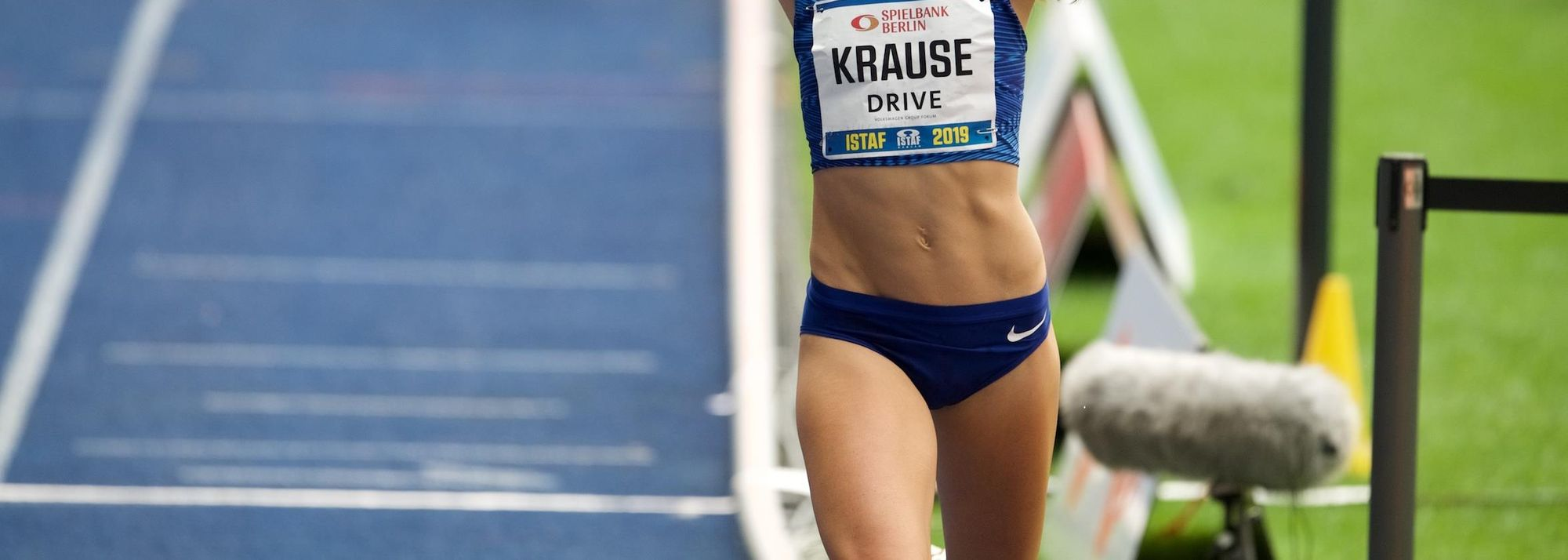 Gesa Felicitas Krause smashed the world best in the rarely-run 2000m steeplechase to highlight the ISTAF meeting in Berlin, an IAAF World Challenge meeting, at the city's fabled Olympic Stadium on Sunday (1).