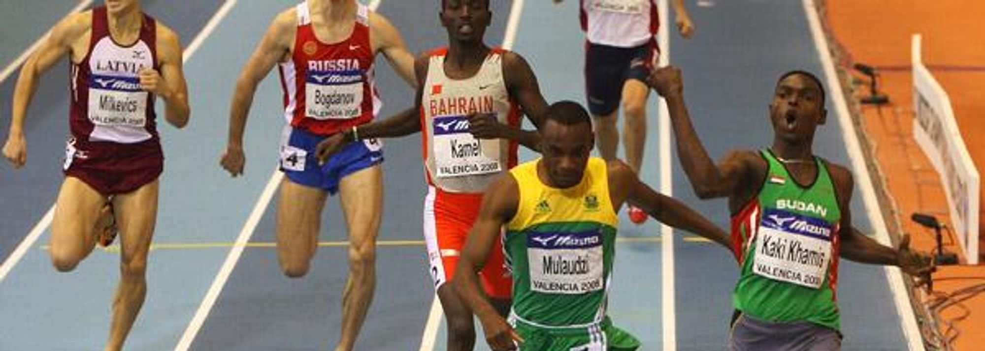 - At 18 years and 262 days Abubaker Kaki Khamis became the youngest ever World Indoor champion when winning a superb 800m final this evening in Valencia.</P>