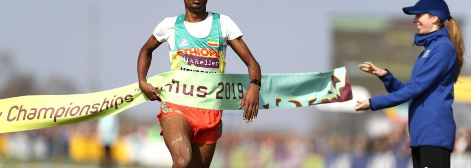Milkesa Mengesha timed his race to perfection to lead an Ethiopian 1-2 finish in the U20 men's race at the IAAF/Mikkeller World Cross Country Championships Aarhus 2019.