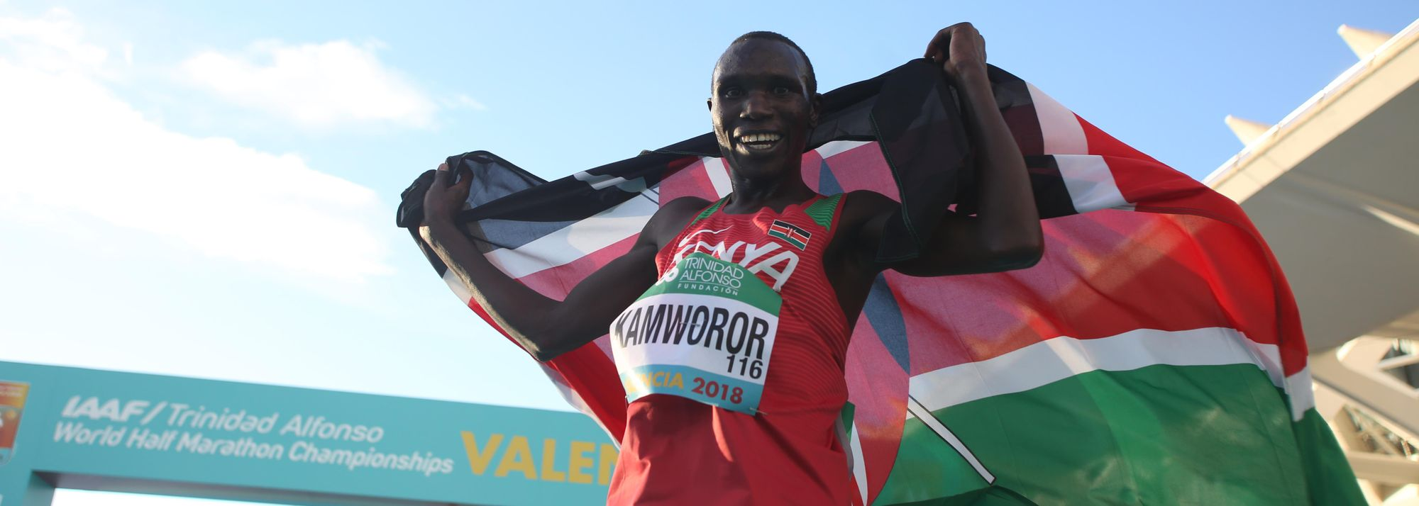 Unlike in the women's race, the record books were not revised by the men at the IAAF/Trinidad Alfonso World Half Marathon Championships Valencia 2018 but that didn't mean there was an absence of thrills and drama as Kenya's Geoffrey Kamworor romped away over the final six kilometres to secure his third successive world title over the distance.