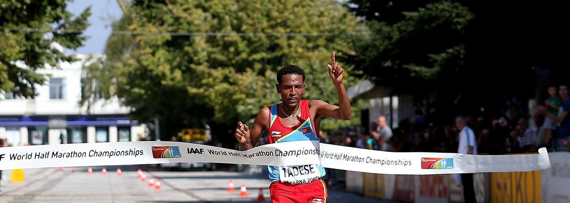 Zersenay Tadese lived up to his moniker of 'Mr. Half Marathon' after collecting his fifth World road running title at the 20th World Half Marathon Championships in Kavarna, Bulgaria, today.