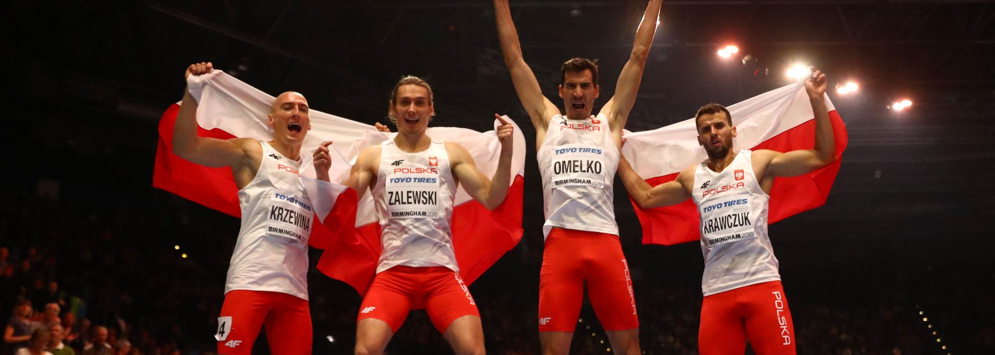 A look at the Polish men's 4x400m relay squad that broke the world indoor record at the World Indoor Championships in March, a record that was ratified earlier this week.