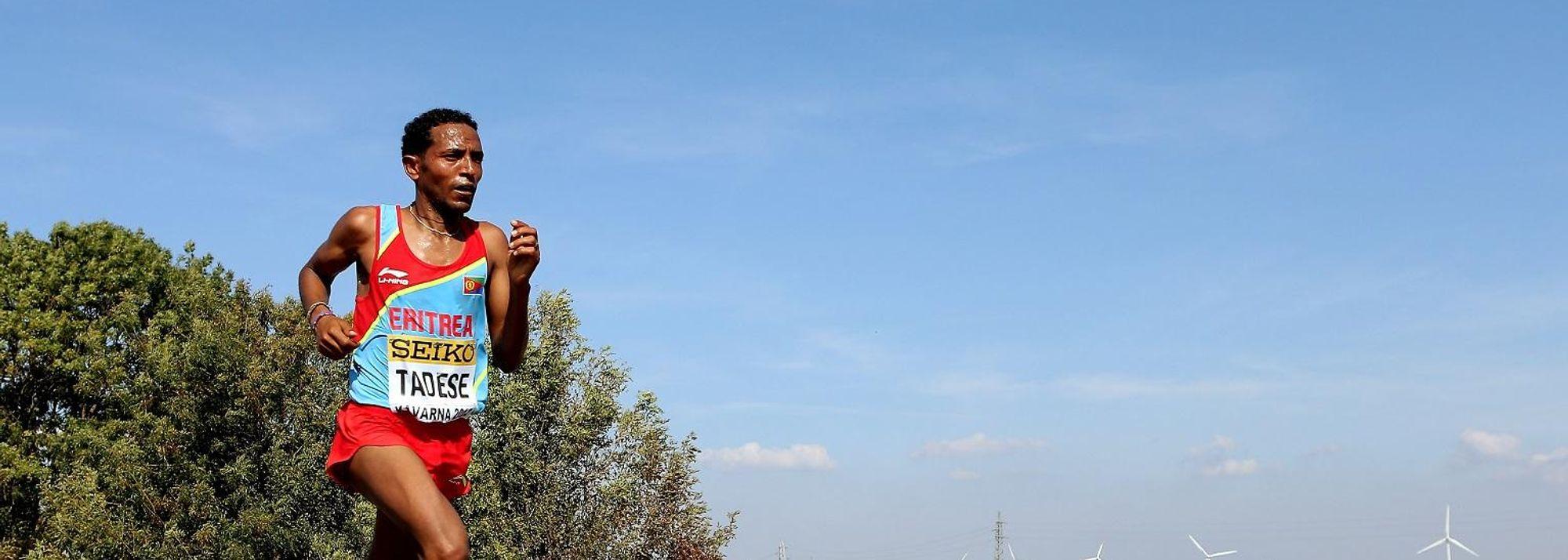 Dominating the proceedings from just beyond the fifth kilometre, Zersenay Tadese of Eritrea won an unprecedented fifth World Half Marathon title in Kavarna, Bulgaria, today.