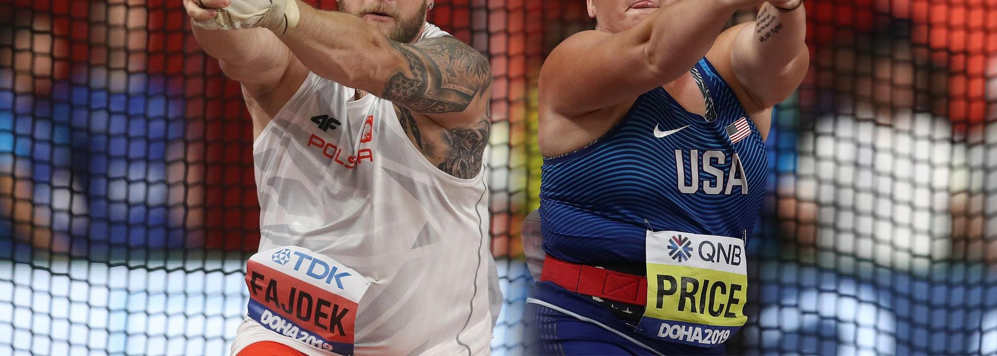 Recently crowned world champions Pawel Fajdek of Poland and DeAnna Price of the USA topped the end-of-year standings for the 2019IAAF Hammer Throw Challenge. Fajdek won the challenge for the fifth time, adding to victories in 2013, 2015, 2016 and 2017. For Price, it was her first finish atop the standings.