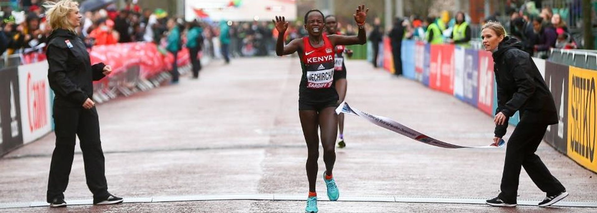 With a full strength team, Kenya was hopeful of repeating their 2014 medal sweep in the women's race at the IAAF/Cardiff University World Half Marathon Championships Cardiff 2016.