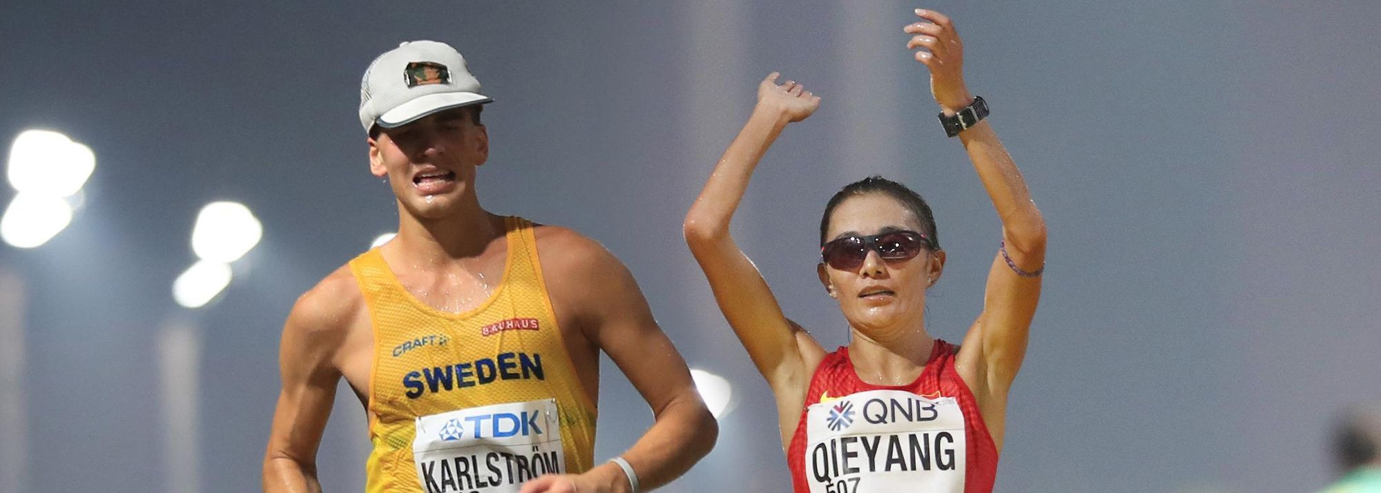 Sweden's Perseus Karlstrom and China's Qieyang Shenjie have been confirmed as the overall winners in the 2019 IAAF Race Walking Challenge.