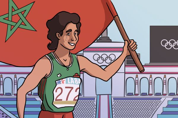 nawal-el-moutawakel-olympic-champion-comic-feature