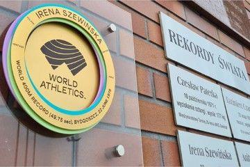 World Athletics Heritage Plaque at the Zawisza Bydgoszcz City Stadium