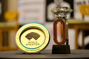 World Athletics Heritage Plaque and Diamond League Trophy at Prefontaine Classic, Eugene
