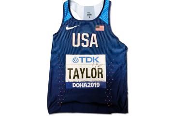 Christian Taylor's singlet from the World Athletics Championships Doha 2019