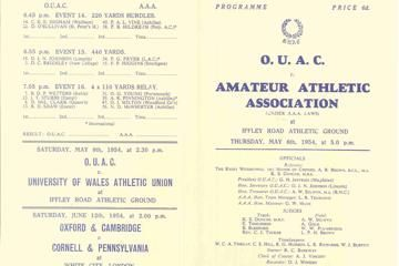 First sub-4 mile: official programme