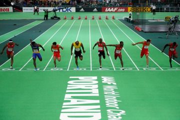 Trayvon Bromell wins the 60m at the IAAF World Indoor Championships Portland 2016